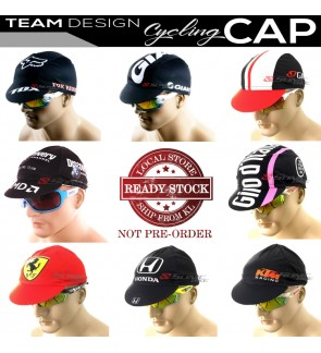 READY STOCK All Team Design Cycling Cap P2 / CAP